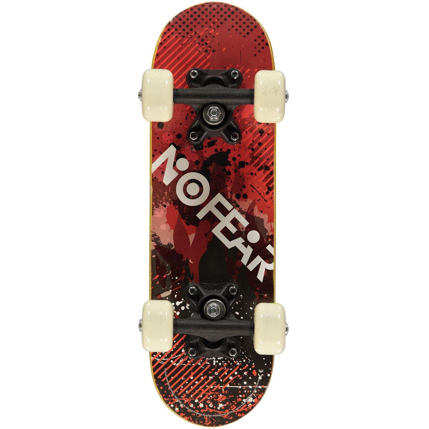 No Fear Kids Children Junior Skateboard Micro Outdoor Activity Accessory