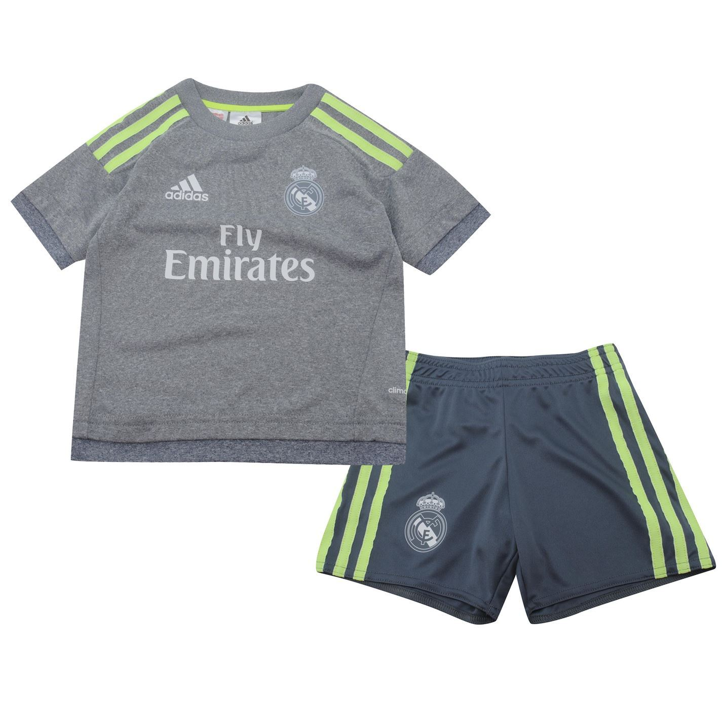 adidas kids real madrid away kit 2015 2016 mini t shirt shorts tee top ebay. Black Bedroom Furniture Sets. Home Design Ideas