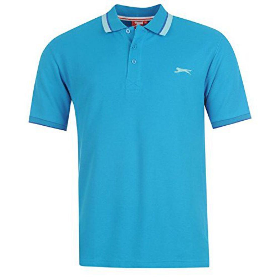 Slazenger mens clothing short sleeve tipped polo shirt for Best short sleeve shirts