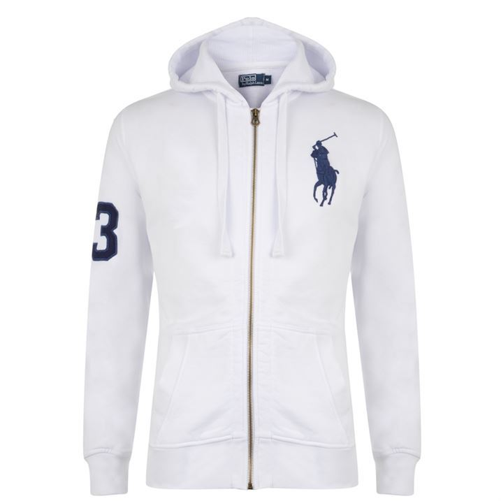 polo ralph lauren mens large logo zip premium hooded sweater hoody hoodie ebay. Black Bedroom Furniture Sets. Home Design Ideas