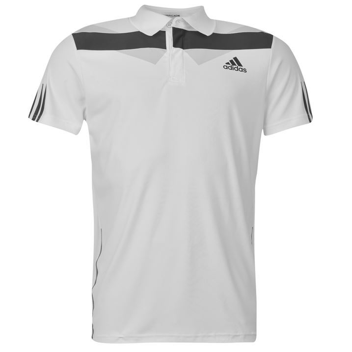 Adidas Mens Barricade Tennis Polo Shirt Short Sleeved