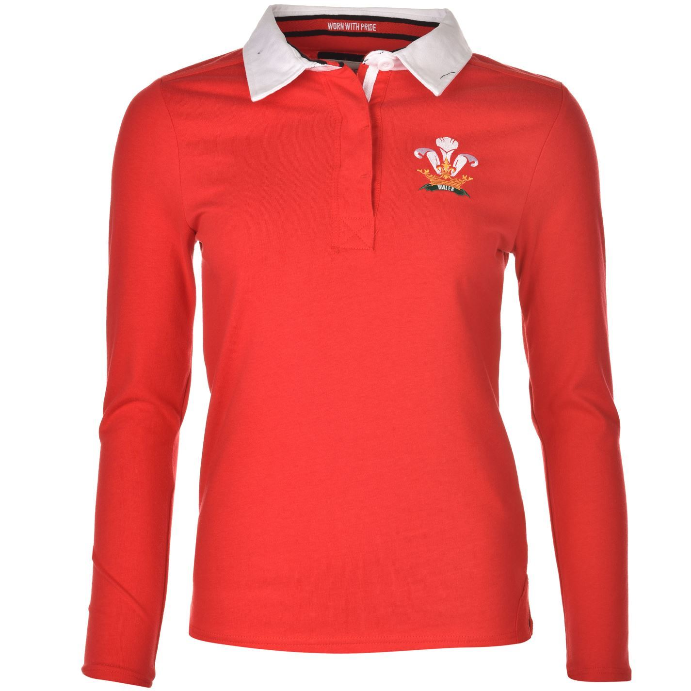 Team Womens Ladies Rugby World Cup Wales Long Sleeve