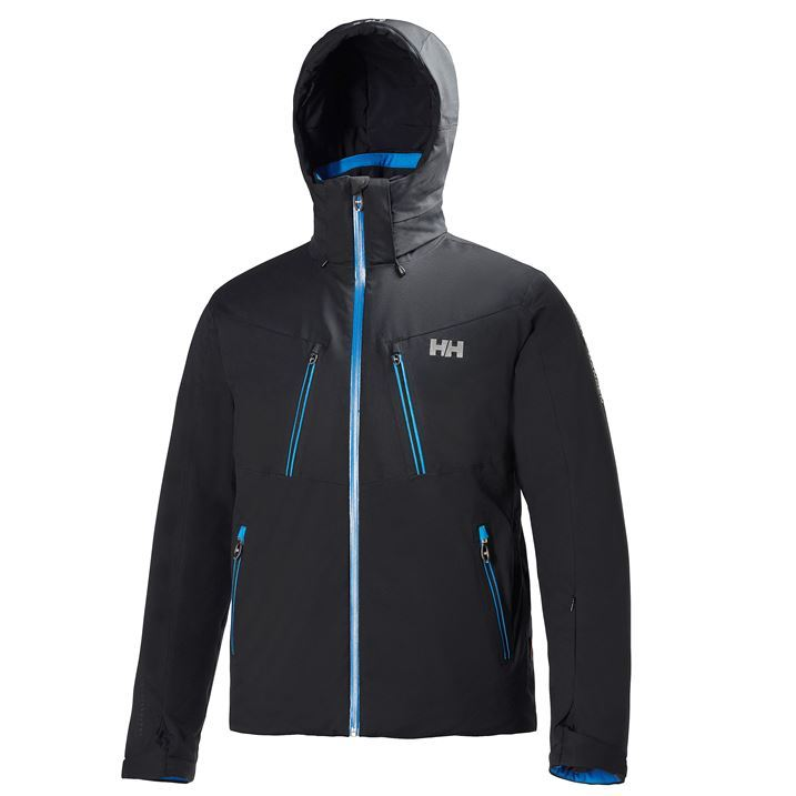 Helly Hansen Mens Alpha Ski Jacket Waterproof Hooded Pockets ...
