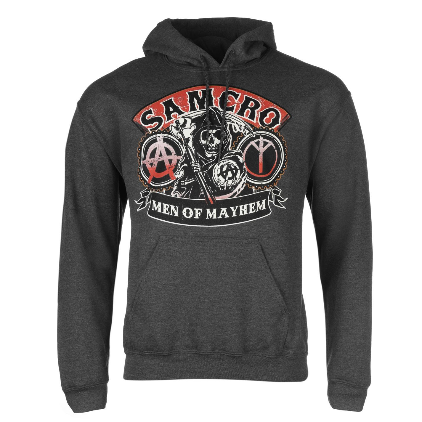 official mens sons of anarchy hoodie warm kangaroo pocket. Black Bedroom Furniture Sets. Home Design Ideas