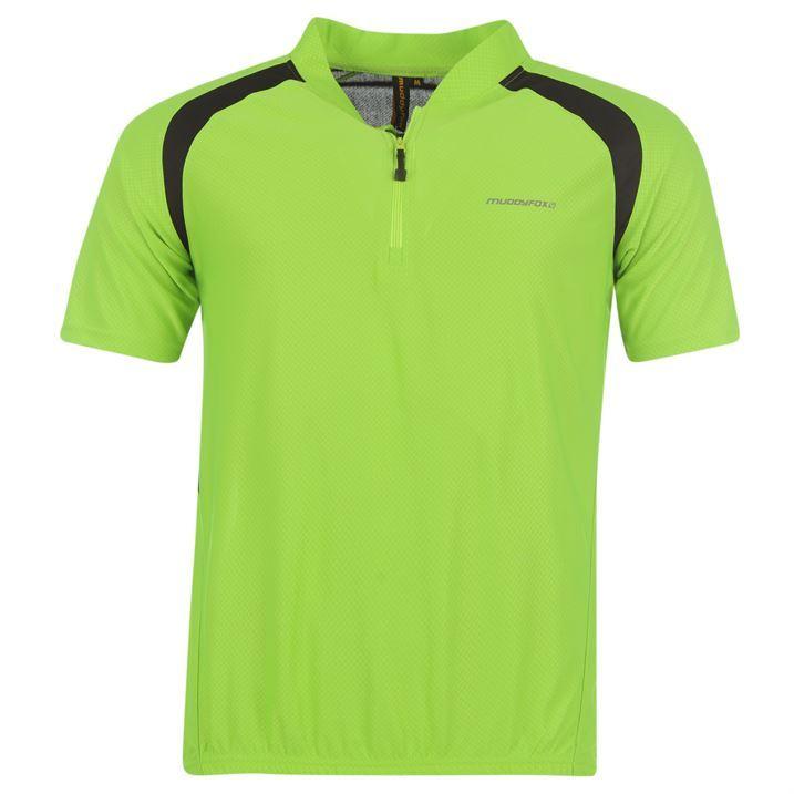 Muddyfox Mens Cycling Short Sleeved Jersey Top Lightweight Sport Menswear