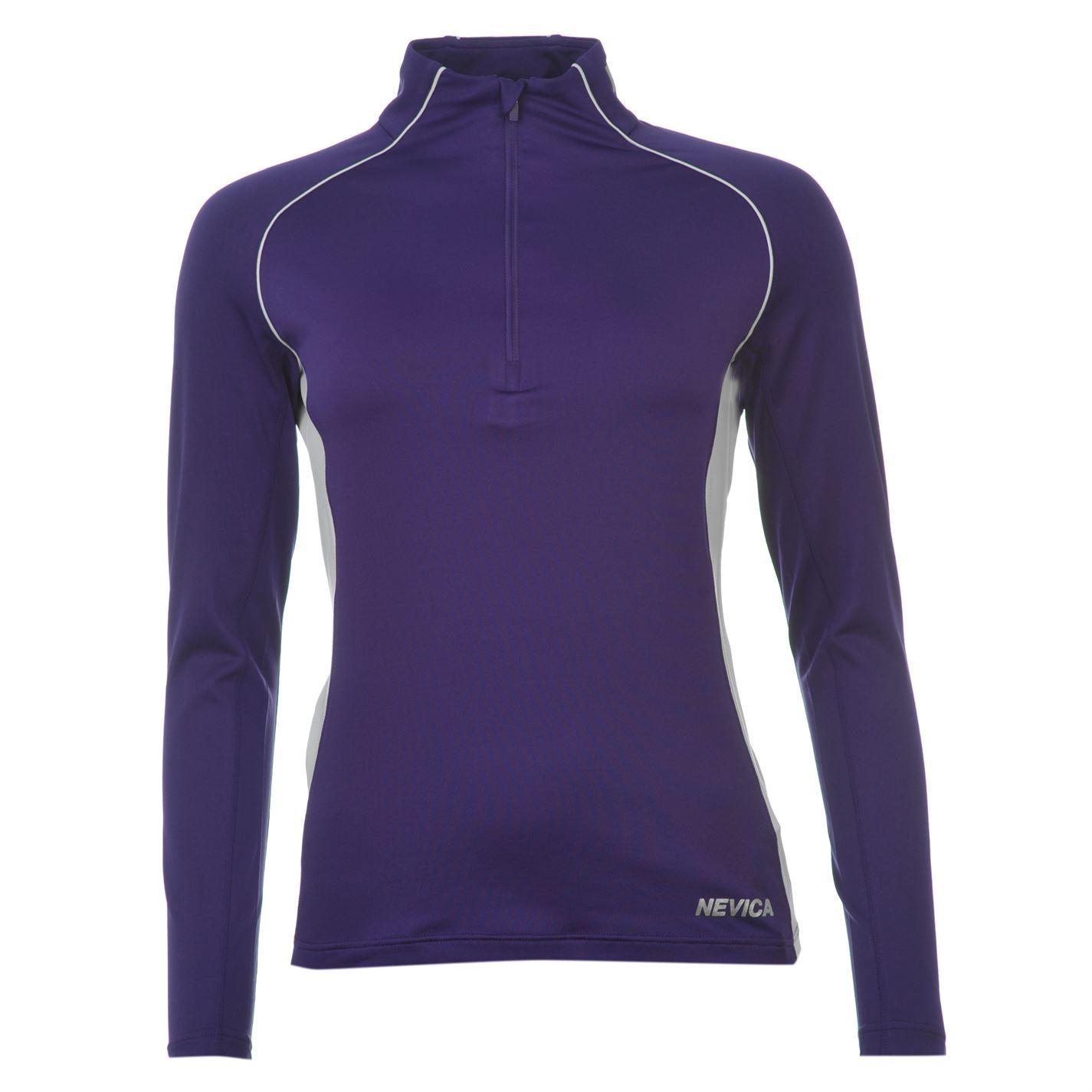 Nevica Womens Ladies Thermal Half Zip Top Long Sleeve: thermal t shirt long sleeve