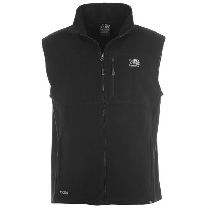 Karrimor Mens Sleeveless Zip Fastening Waist Length Top Jacket Fleece Gilet