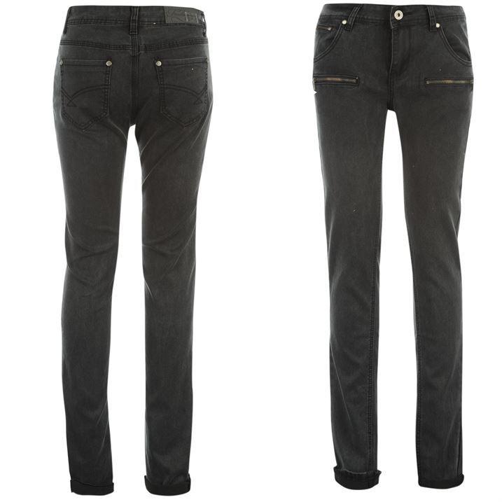Firetrap-Womens-Acid-Zipped-Skinny-Jeans-Ladies