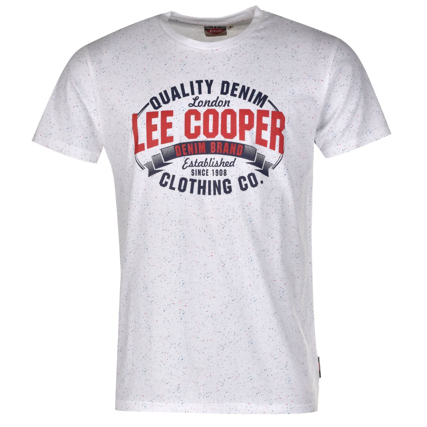 lee cooper mens c tex aop tee t shirt short sleeve casual everyday clothing ebay. Black Bedroom Furniture Sets. Home Design Ideas