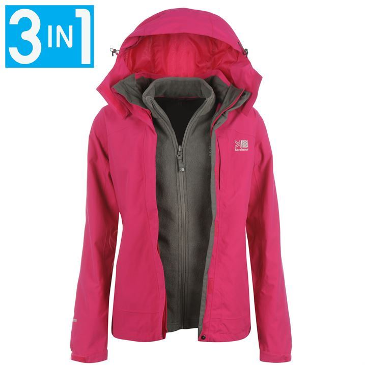 Karrimor Womens Ladies 3 in 1 Jacket Waterproof Breathable Hooded ...