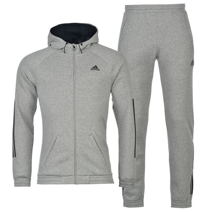 ecd72aa5dea1 adidas Mens 3 Stripe Jogging Suit Tracksuit Bottoms And Jacket