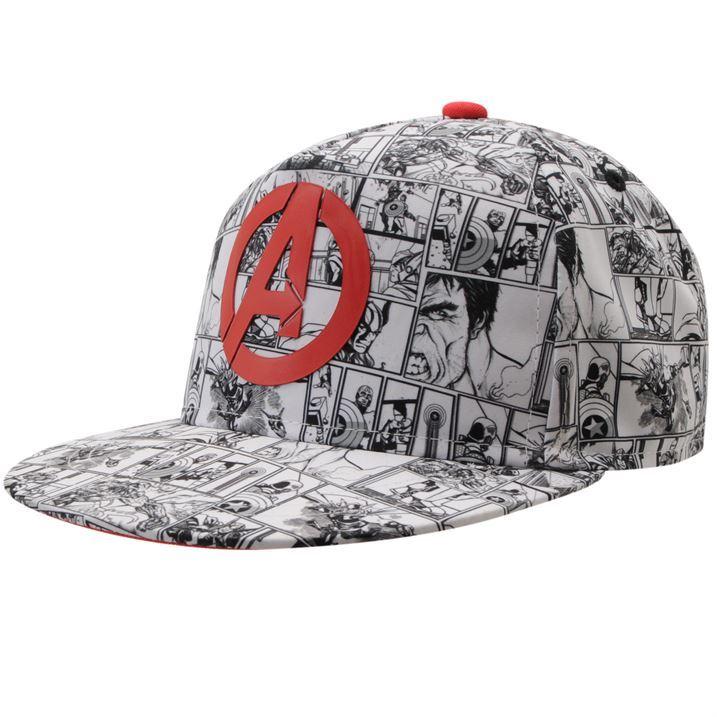 Marvel Kids Flat Peak Cap Junior Boys Hat Baseball Style Headwear