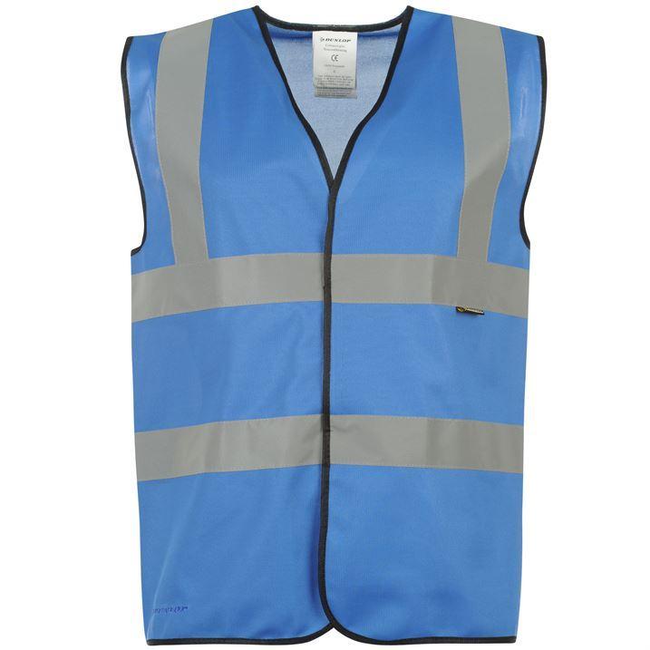 Dunlop Mens Coloured Hi Vis Hi Visibility Reflection Tape Vest Waistcoat Jacket