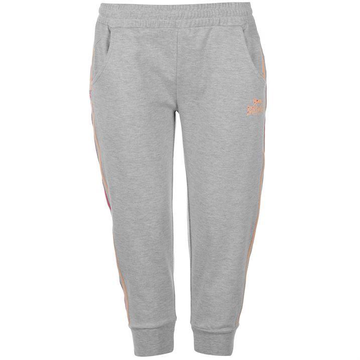 Popular Adidas ThreeQuarter Track Pants Womens S19784 Grey Ribbed Pants Wmns