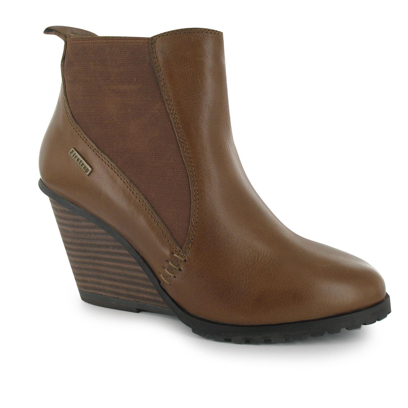 firetrap womens moraine wedge boots cushioned