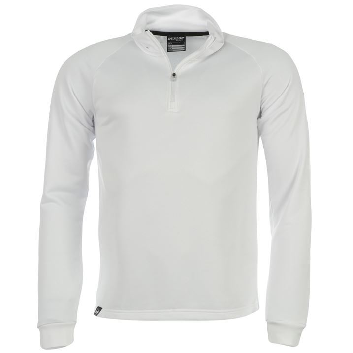 Dunlop Mens Clothing Zip Golf Pullover Golf Top Long Sleeve High Neck