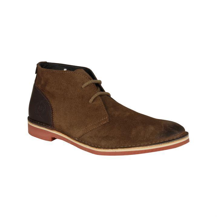 Henri Lloyd Mens Layham Desert Boots Slim Rubber Sole Platform Heel Shoes Ebay