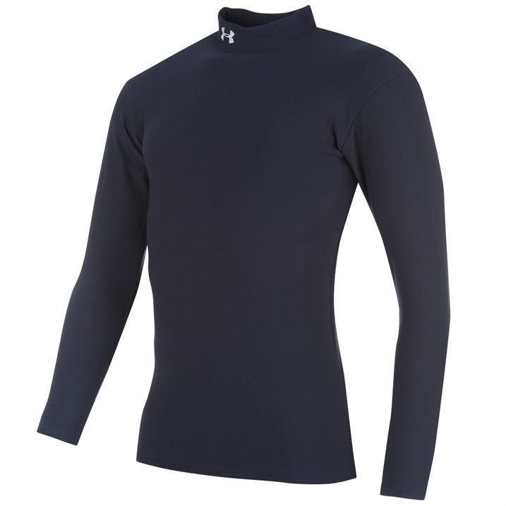 Under armour mens armour cold gear mock neck baselayer for Under armour cold gear shirt mens