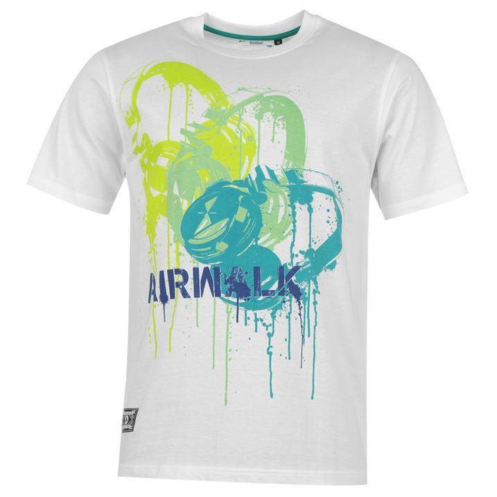 Airwalk Mens Graphic T Shirt Short Sleeve Top Crew Neck Collar Printed Graphic
