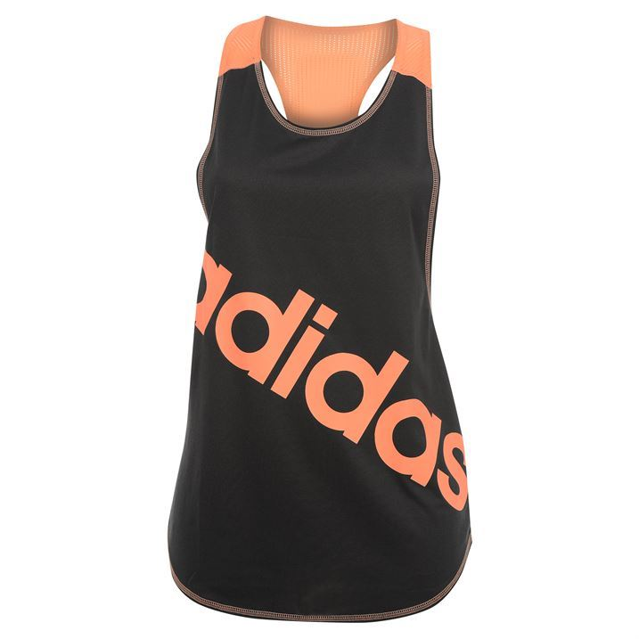 adidas Womens Racer Back Tank Top Ladies Sport Scooped Neck Gym Workout