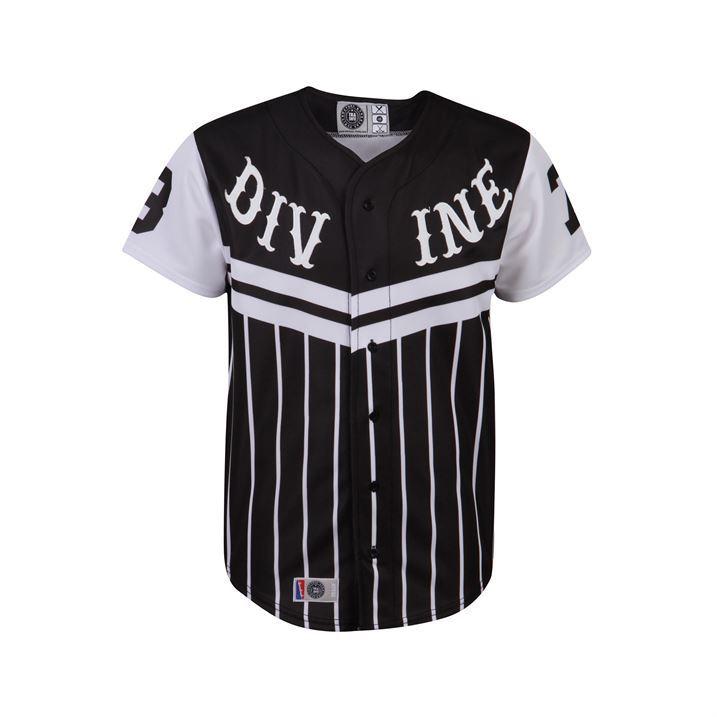 Trash Mens Chevron Baseball Button Up T-Shirt Tee Top Short Sleeve ...