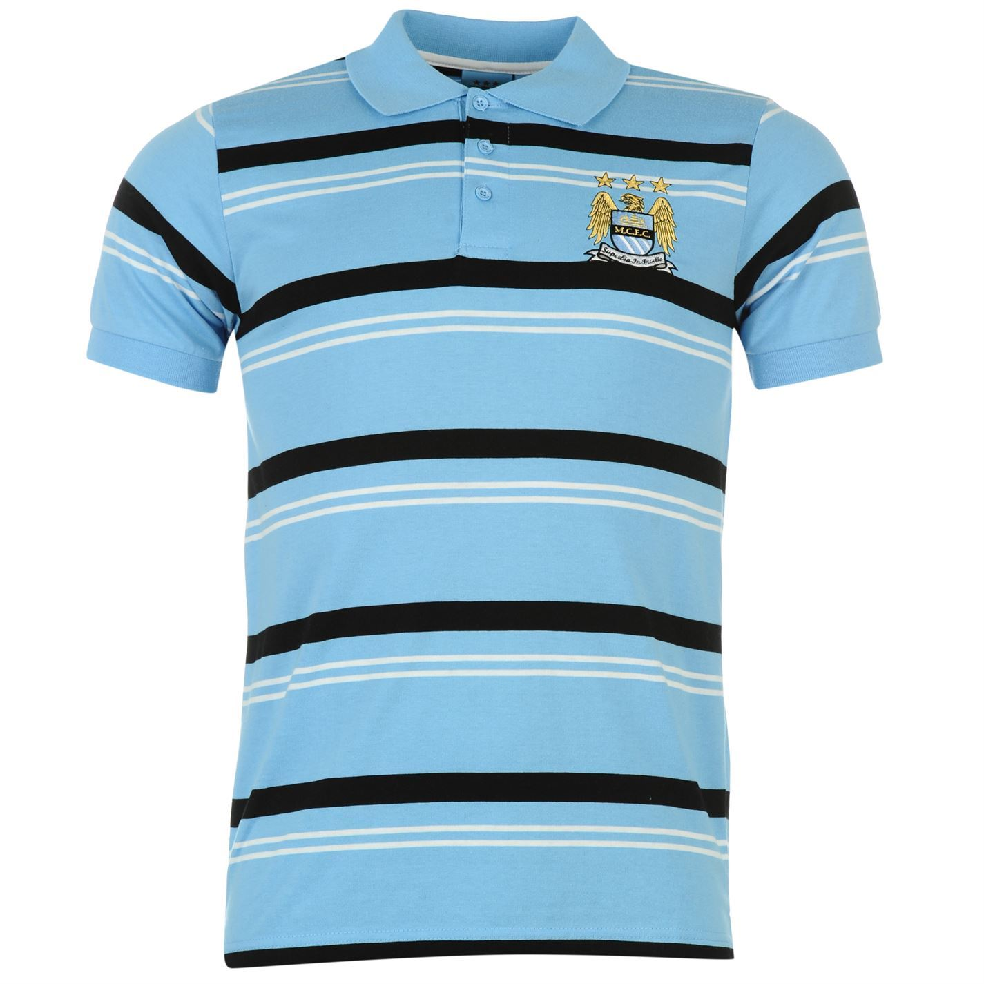 Source Lab Mens Manchester City Football Club Polo T Shirt