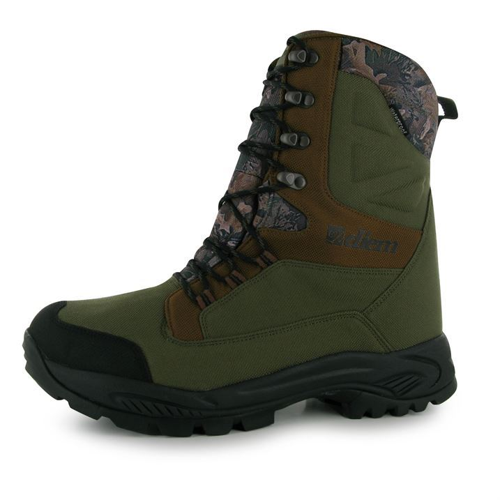 Diem mens at boots fishing lace up waterproof outdoor ebay for Waterproof fishing boots