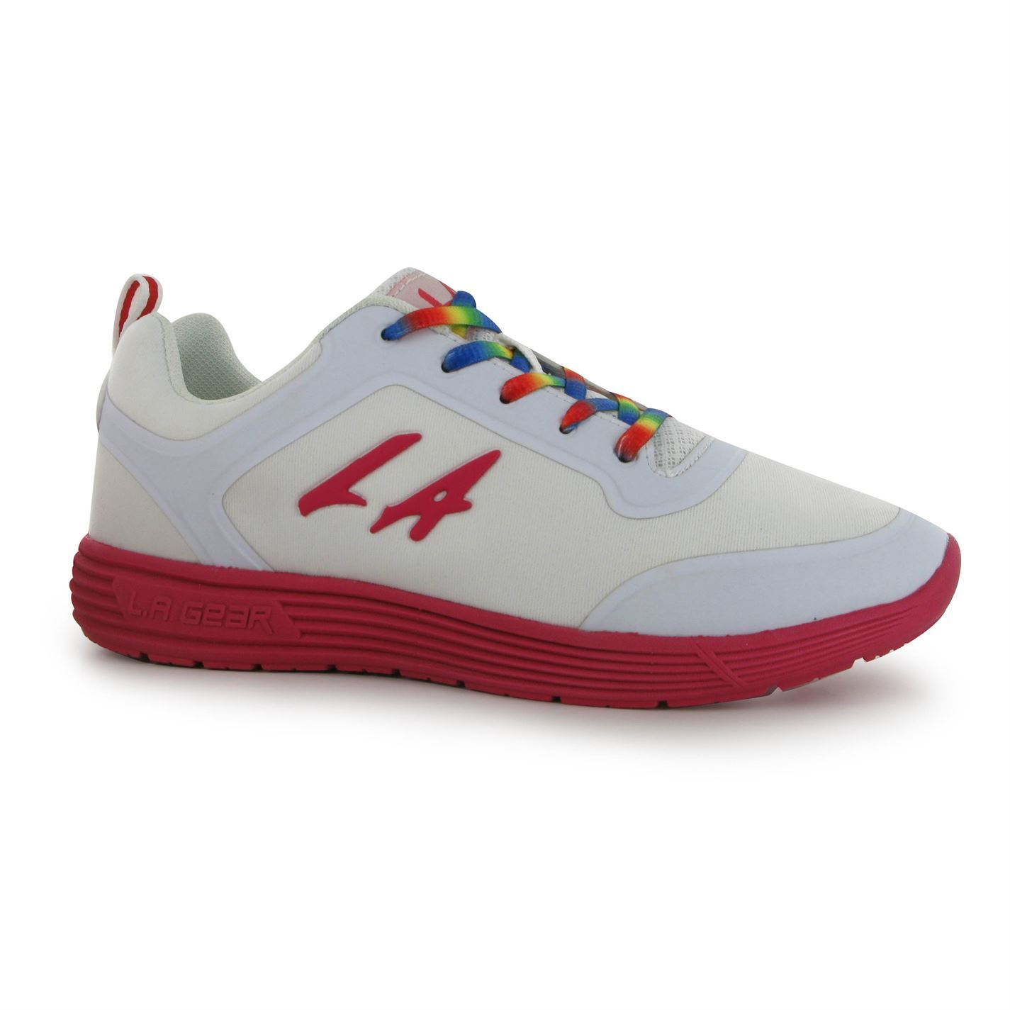 la gear womens rainbow trainers lace up casual