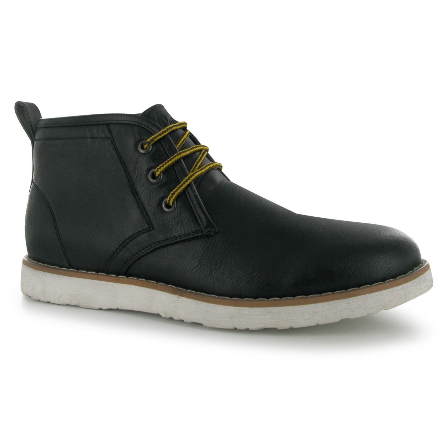 Lee Cooper Mens C PU Desert Boots Ankle Lace Up Casual ...
