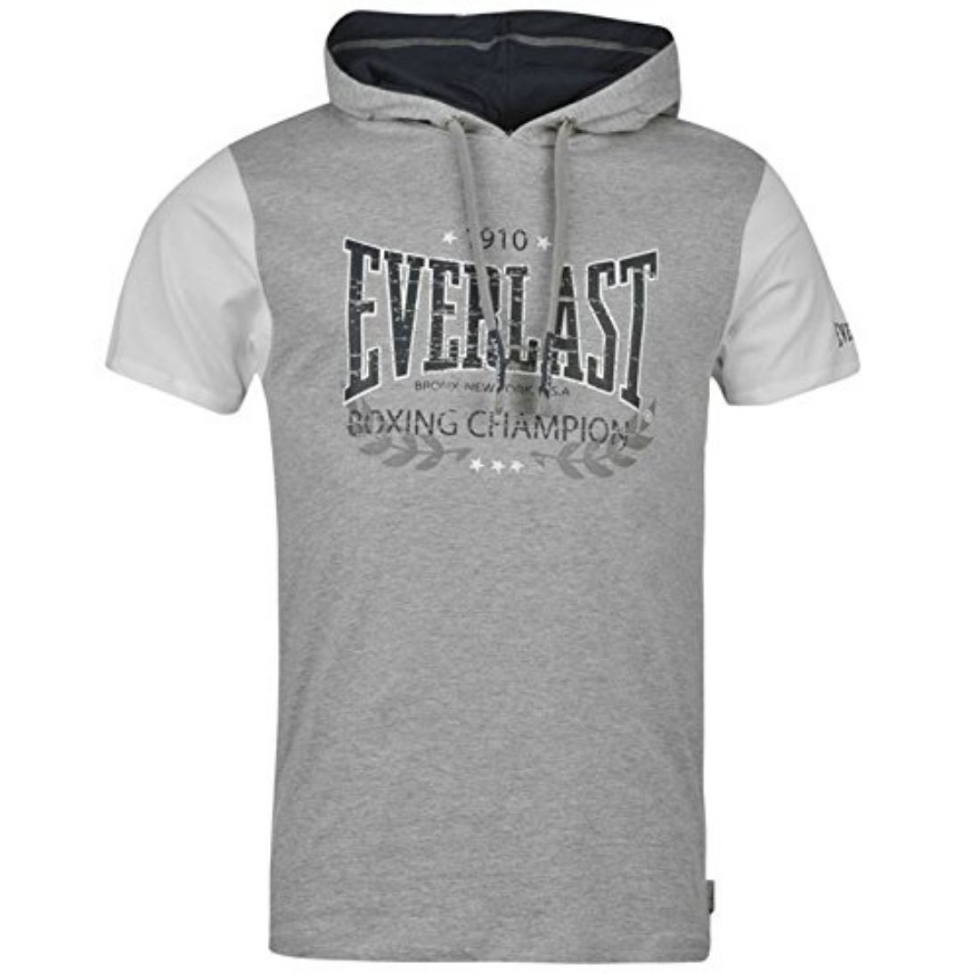 Everlast Boxing Champion Mens Hooded T Shirt Short Sleeved Tee Top Brand New