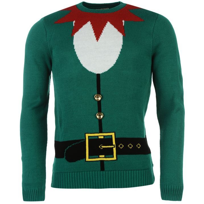Knitting Pattern For Elf Jumper : Soulcal Mens Elf Otft Knitted Jumper Pullover Sweater Top ...