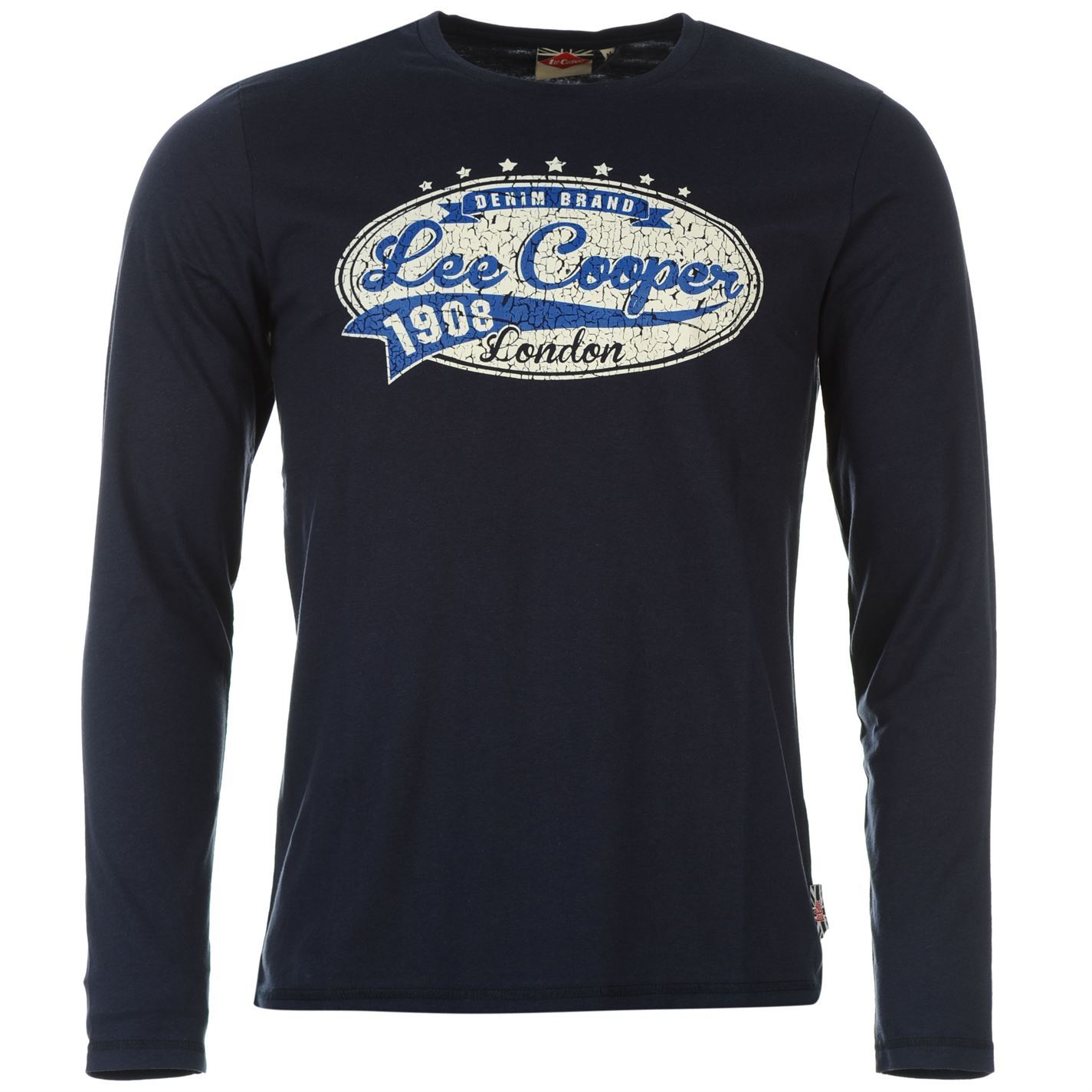 Lee cooper mens vintage long sleeve t shirt new ebay for Retro long sleeve t shirts