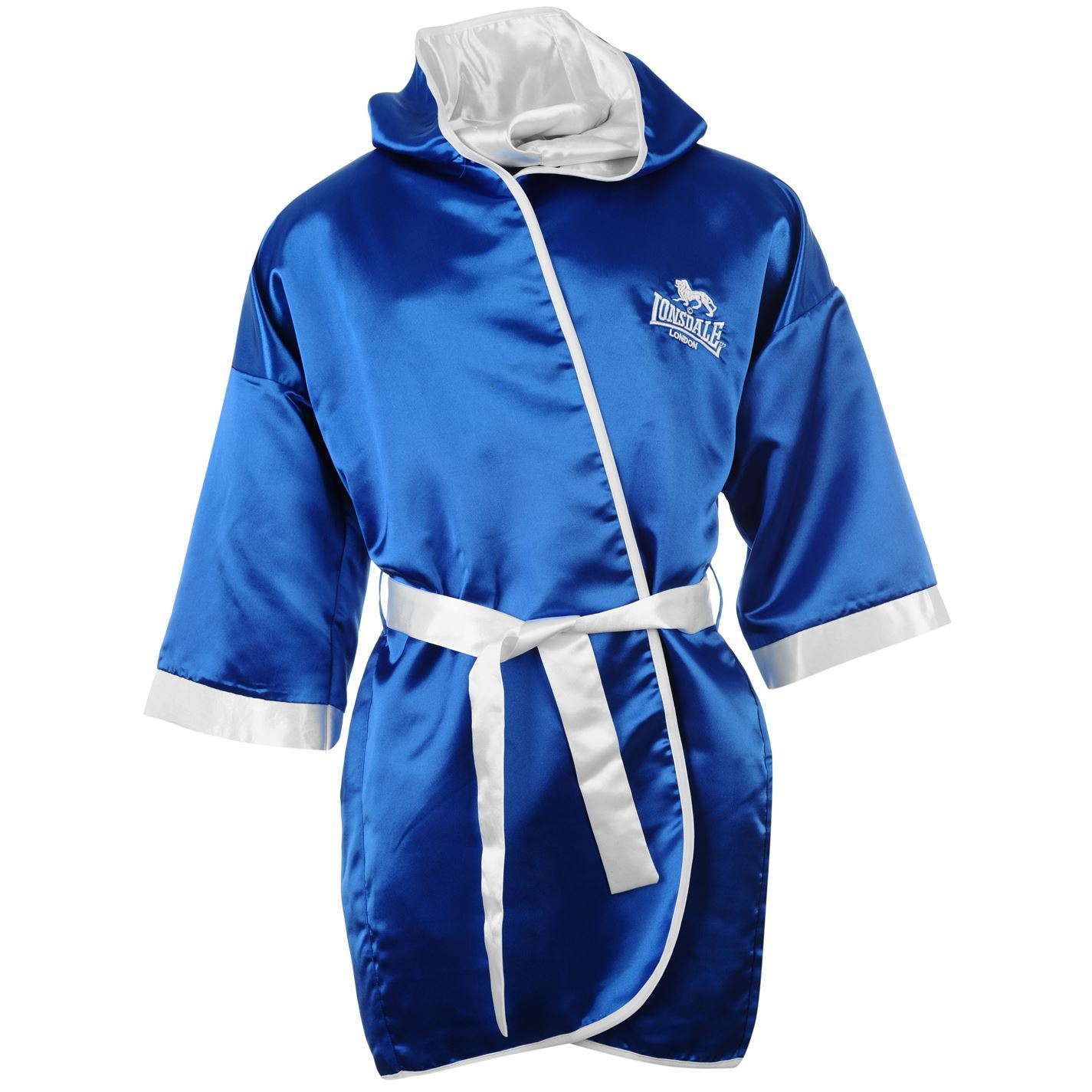 lonsdale mens boxing gown hooded dressing robe bathrobe ebay. Black Bedroom Furniture Sets. Home Design Ideas