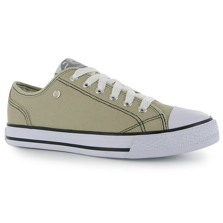 dunlop womens canvas low laced trainers sneakers