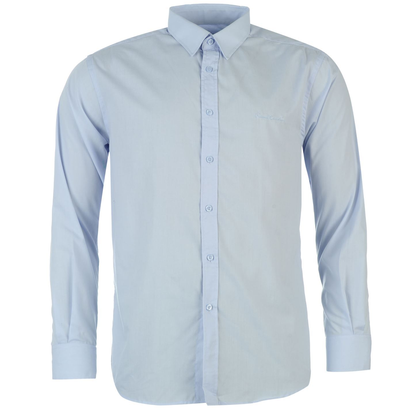 Pierre cardin mens long sleeve shirt top casual clothing for Best mens dress shirts online