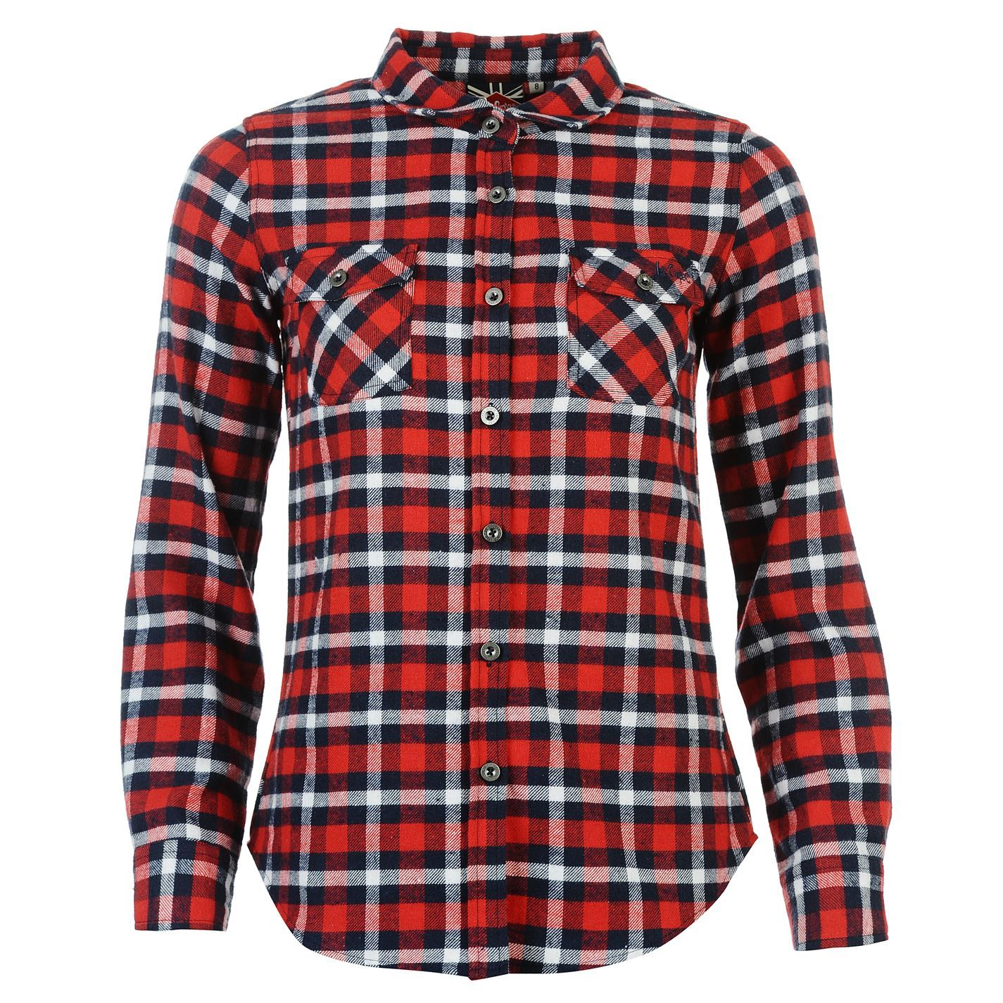 Lee cooper womens flannel ladies shirt long sleeve top for Best casual button down shirts