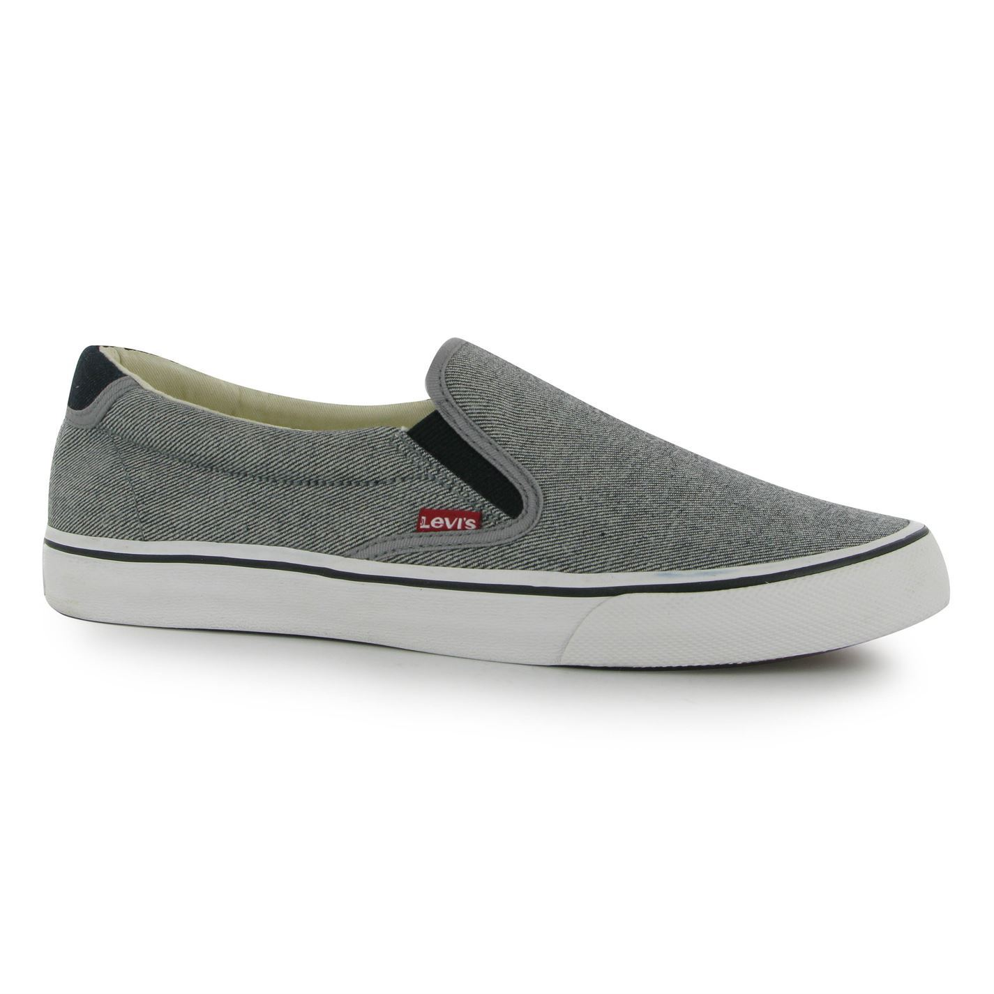 levis tab slip on canvas shoes mens gents ebay