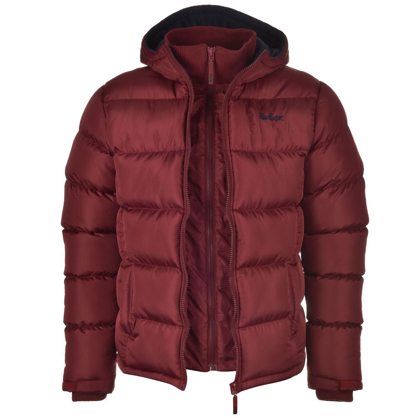 Lee Cooper Mens Two Zip Bubble Jacket Long Sleeve Fleece Coat Top Clothing | EBay