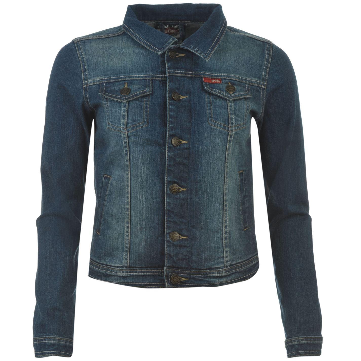 Lee Cooper Womens C Denim Jacket Ladies Long Sleeve Button Up Casual | eBay