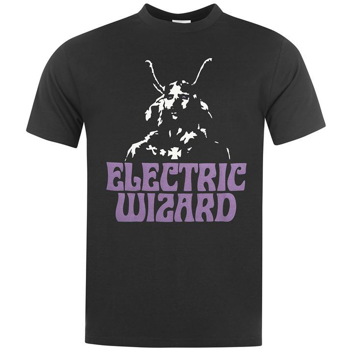 official mens electric wizard t shirt crew short sleeve