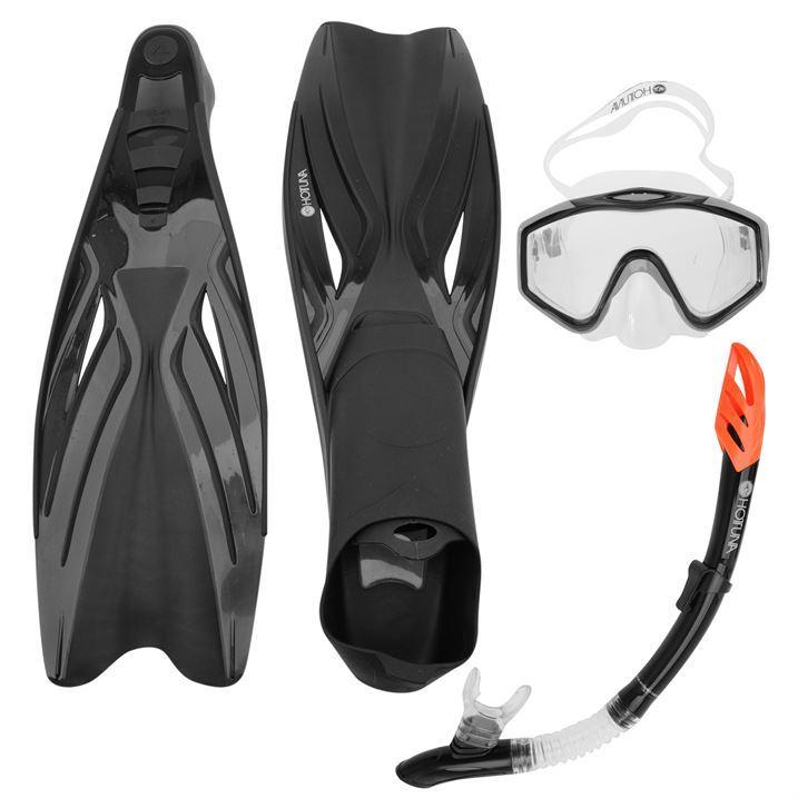 Hot Tuna Unisex Tuna Fins Purge Mask Snorkel Set Diving Snorkelling Scuba Dive