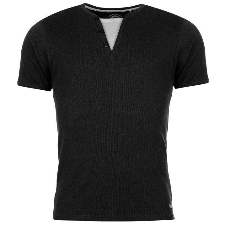 Pierre Cardin Mens Mock Neck T Shirt Short Sleeve Tee Top