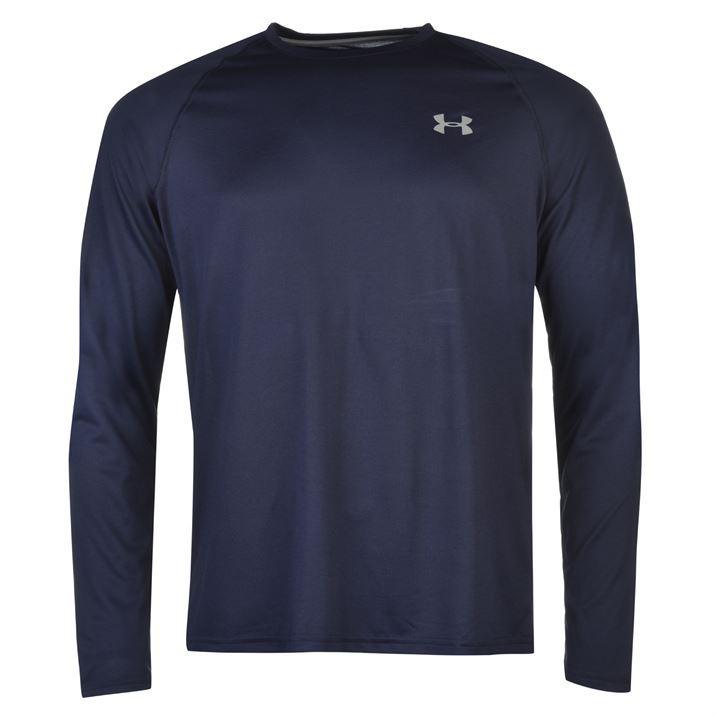 Under armour mens tech t shirt long sleeve sports training for Long sleeve technical running shirt