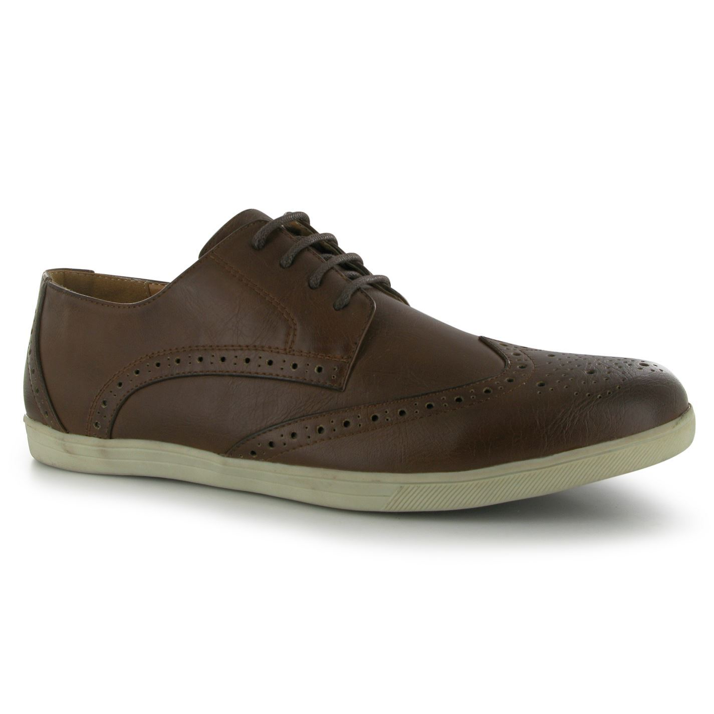 Lee Cooper Mens C Beyond Brogue Shoes Laced Casual ...