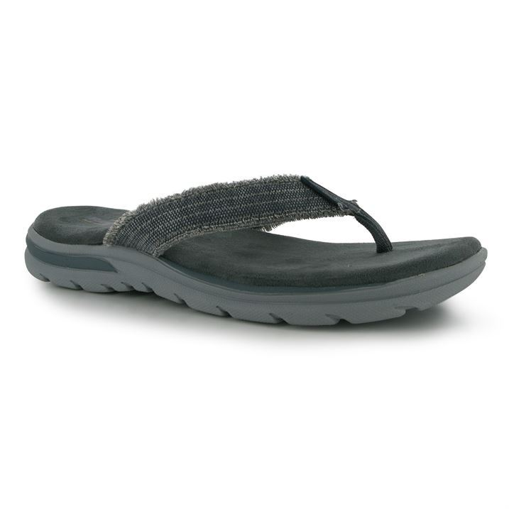 Skechers Mens Supreme Bo Flip Flops Summer Beach Shoes Sandals | eBay