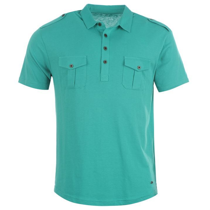 firetrap mens double pocket polo shirt t shirt tee top ebay