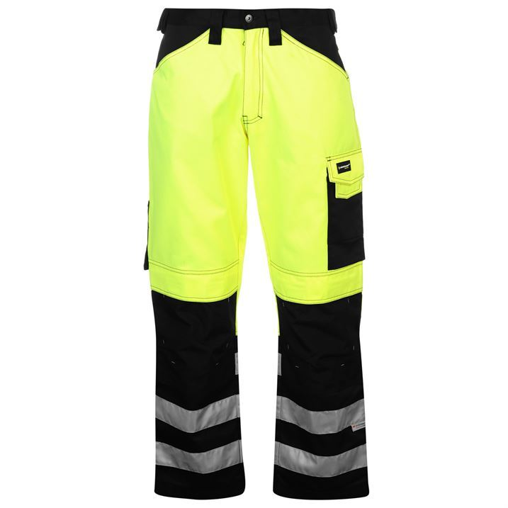 dunlop mens hi vis trousers reflective fluorescent