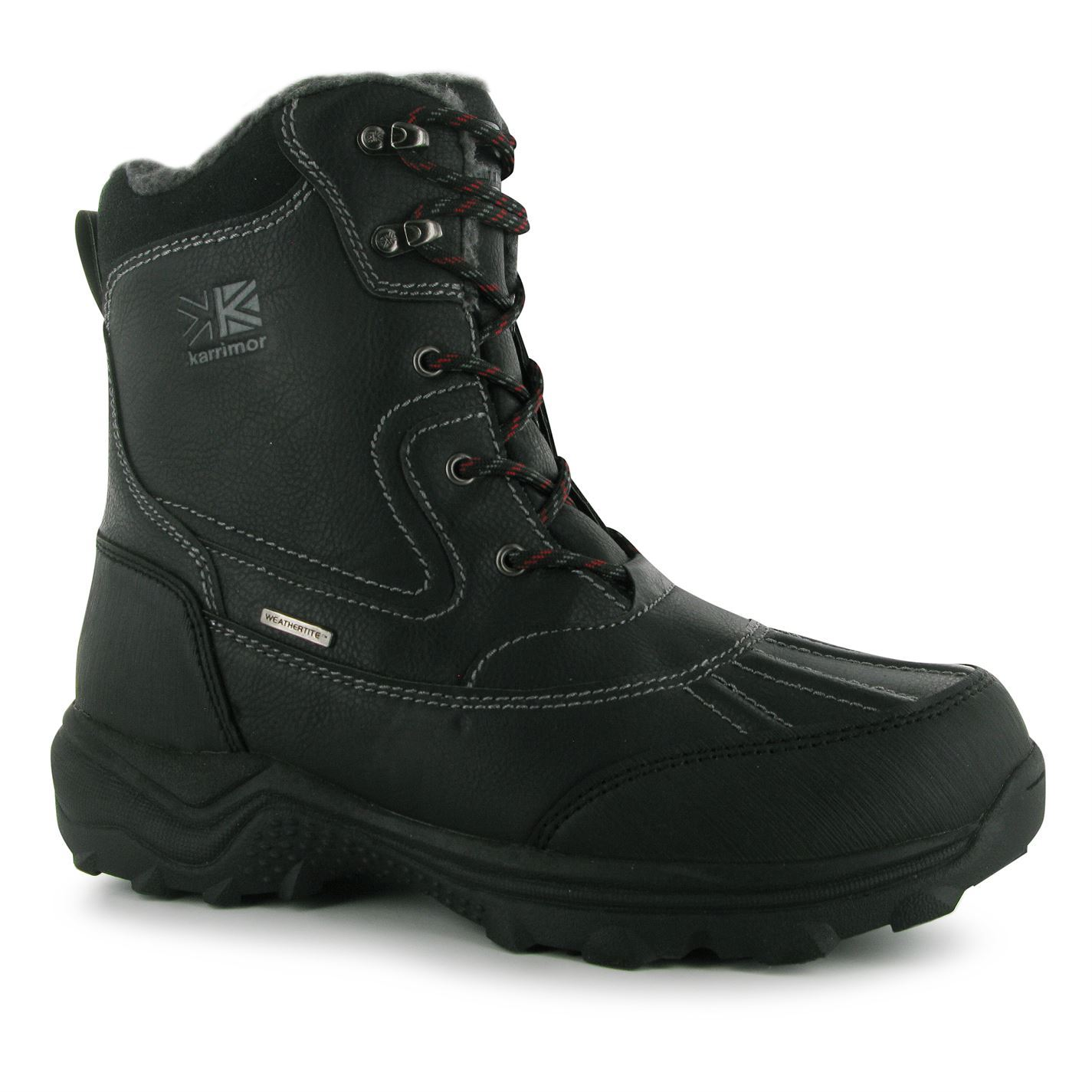 karrimor mens casual snow boots cushioned insole lace up