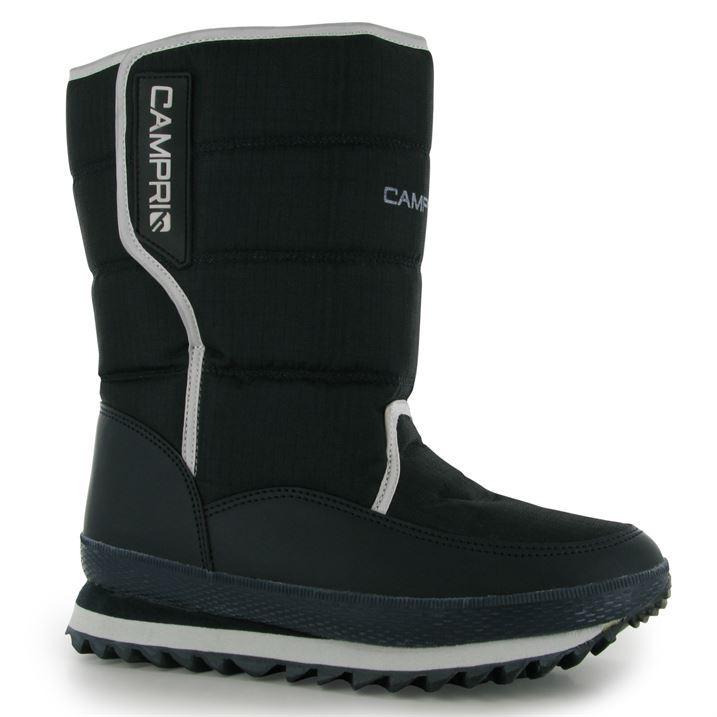 Campri Mens Snow Jogger Boots Casual Hook and Loop Warm