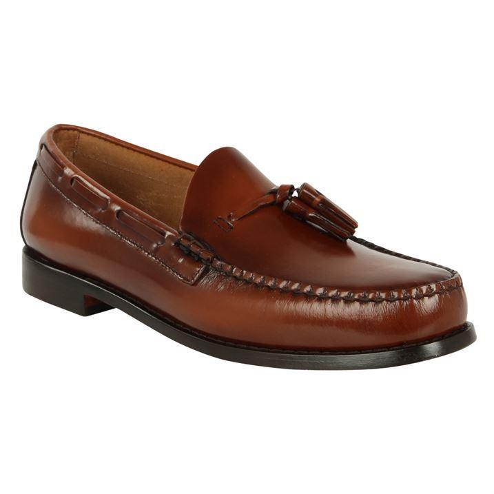 bass weejuns mens larkin leather loafer smart slip on shoes